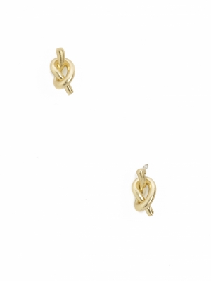 EARRINGS METALLIC KNOT logo