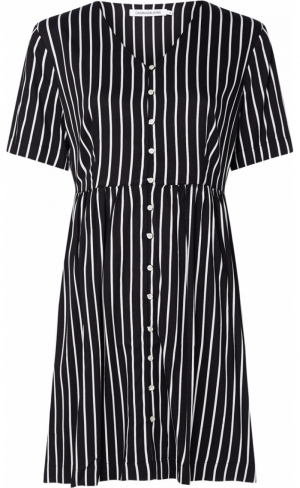 STRIPE DRESS WAISTED logo