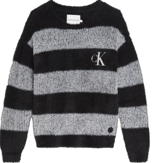 STRIPED FLUFFY SWEATER logo