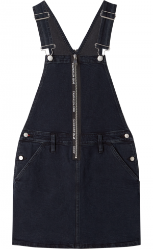 DUNGAREE DRESS ZIP logo