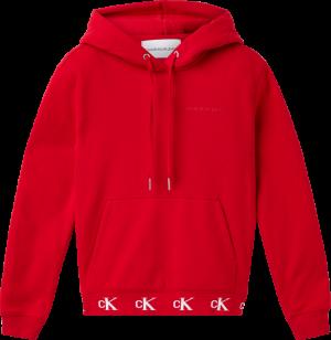 CK LOGO TRIM HOODIE logo