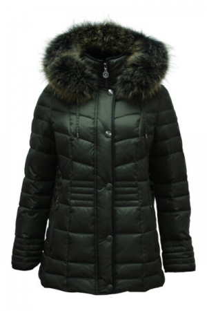 DOWNJACKET+HOOD AND FUR logo