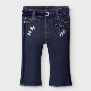 FLARED LONG DENIM PANT logo