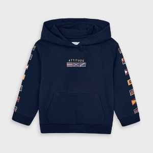FLAGS PULLOVER WITH HOODIE logo