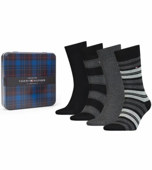 SOCK STRIPE TIN GIFTBOX logo
