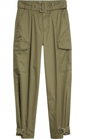 HIGH RISE BELTED PANT logo