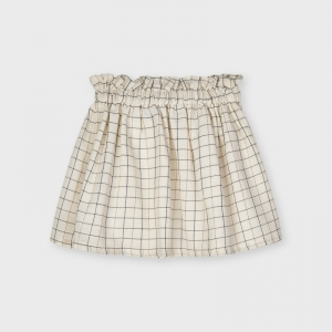PLAID LUREX SKIRT logo
