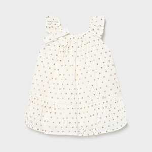 PERFORATED DOTTED DRESS logo