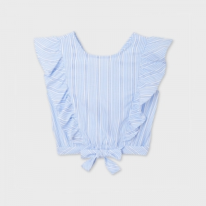 STRIPES BOW LOOSE SHIRT logo