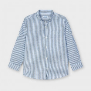 LINEN STRIPED SHIRT logo
