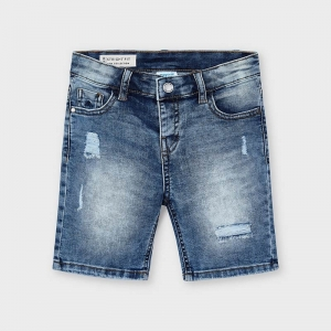 DENIM BERMUDA SHORTS logo