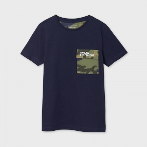 MIXED T-SHIRT WITH POCKET logo
