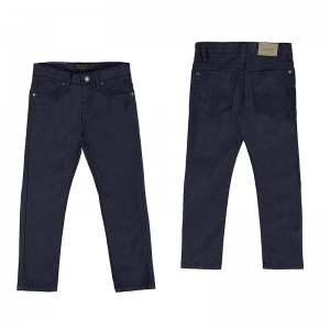 BASIC SLIM FIT SERGE PANTS logo