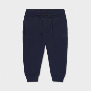 BASIC CUFFED FLEECE TROUSERS logo