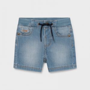 BASIC DENIM BERMUDA SHORTS logo