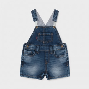 SOFT DENIM SHORT OVERALL logo