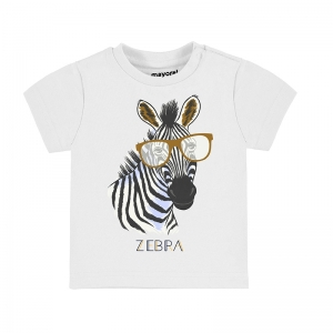 "T-SHIRT ""PLAY"" ""ZEBRA"" logo"