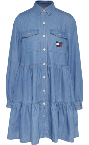 CHAMBRAY SHIRT DRESS logo