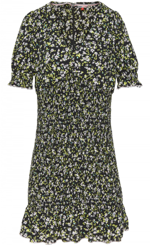 SMOCK BODY FLORAL DRESS logo