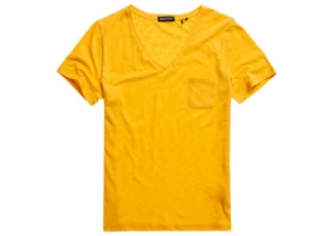POCKET V NECK TEE logo