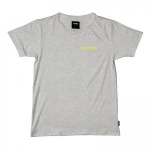 T-SHIRT UNI GREY MELEE logo