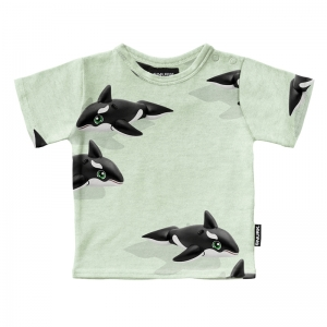 T-SHIRT ORCA GREEN  logo
