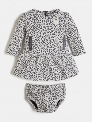 SET JAQUARD LS DRESS+PANTIES logo