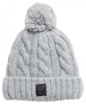 TWEED CABLE BEANIE logo