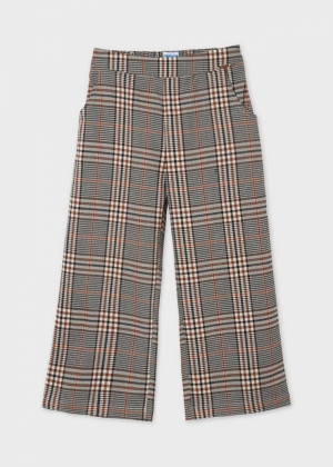 PLAID CROPPED TROUSERS logo