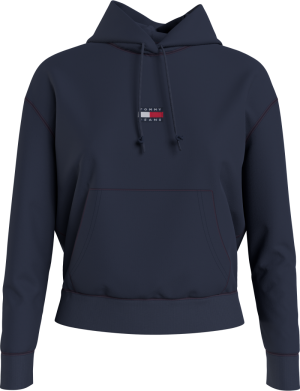 TOMMY CENTER BADGE HOODIE logo