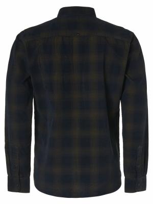 Shirt Yarn Dyed Check Corduroy logo