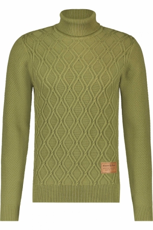 Heavy Knit Rollneck Cable logo