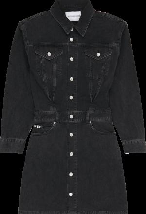 A-LINE DENIM JACKET DRESS logo